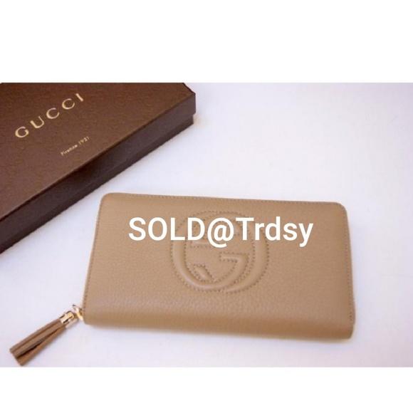 3081069eca5 Gucci Bags | 100 Auth Brand New Wtag Gg Soho Wallet | Poshmark